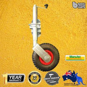 2021 Standard Jockey Wheel 10″ Pneumatic w/ Pin Locking Swivel Bracket 350kg
