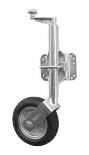 2021 Heavy Duty Jockey Wheel 10″ Solid Pneu w/ U-Bolt Swivel Brkt – Galv 1000kg