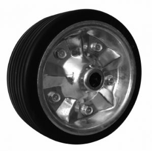 8 inch (200mm) Rubber Tyre, Galv Steel Ctr