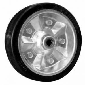 Manutec Jockey Wheel Wheel(200mm rbr tyre) Z/cntr 16mm Trailer Caravan Part