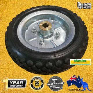Manutec Jockey Wheel 10 (3.50 x 4)Solid Rubber Wheel H/D Trailer Caravan Part