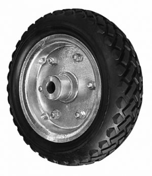 10 in Solid (cushion rubber) Wheel, Galv Ctr