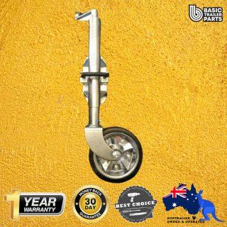 2021 Medium Duty Jockey Wheel 8″ Rubber Zinc Centre Welded Swivel Bracket 750kg