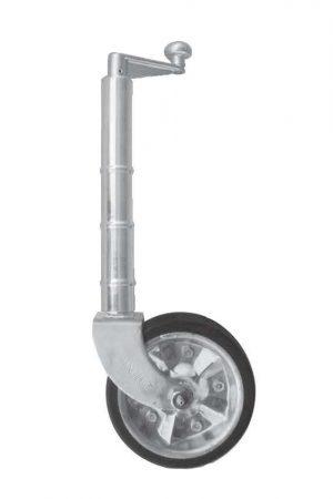2021 Medium Duty Jockey Wheel 8″ Rubber w/ Zinc Centre & Bearings No Clamp 750kg