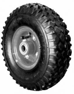 10 in (3.50×4) Pneumatic Wheel, Steel Centre