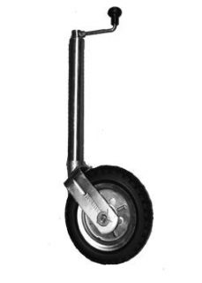 2021 Heavy Duty Jockey Wheel 10″ Side Wind Solid Pneu No Bracket 1000kg Rated