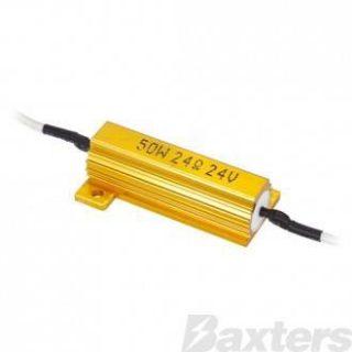 Manutec Trailer Wiring LED Load Resistor 24V 50W Trailer Caravan Spare Part
