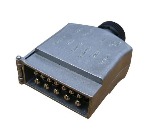 12 PIN FLAT METAL TRAILER PLUG
