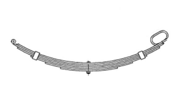 5 Leaf Roller Rocker Spring Front – Galvanised