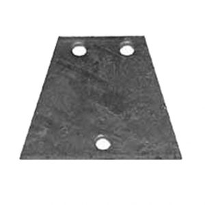Manutec  Coupling Back Base Plate – 3 Hole V Shape Trailer Caravan Spare Part