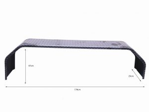 TANDEM 9X91 INCH MUDGUARD – 4 FOLD – GALV 1.6MM – SUIT 14 IN WHEELS Trailer Part