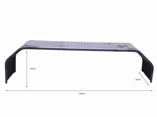 TANDEM 9X91 INCH MUDGUARD - 4 FOLD - GALV 1.6MM - SUIT 14 IN WHEELS