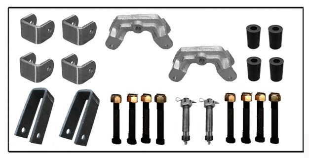 Manutec Rocker Roller Accessories Set Trailer Caravan Spare Part