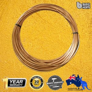 Hydraulic Brake Components Steel Bundy Tube – Brass Plated 3/16x.71mmx20m Parts