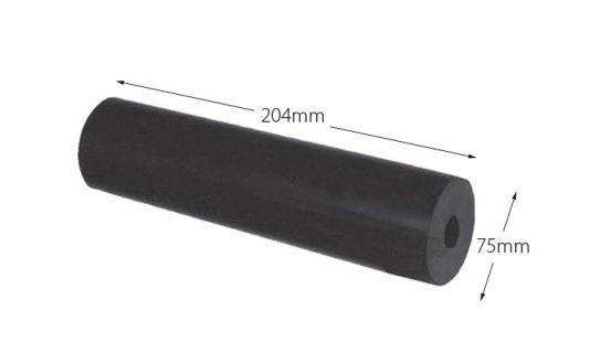 Rubber Boat Roller 8 inch Parallel, Black with 20mm plain bore Trailer Caravan