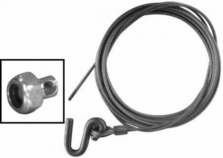 Steel Cable 6m x 4.2mm S Hook