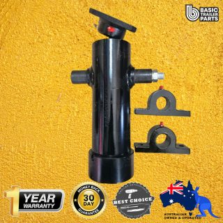 Tipper Trailer KIT-3 STAGE HYDRAULIC CYLINDER 600MM STROKE 3T RATED + 1.6CC PUMP 5LT