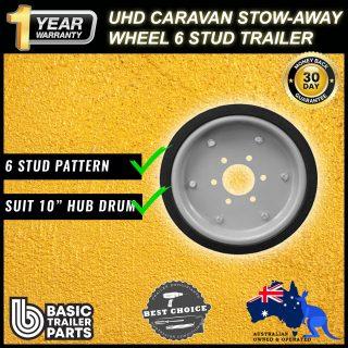 UHD Caravan Stow-Away Wheel 6 Stud Carastow Storage Wheel Trailer LandCruiser