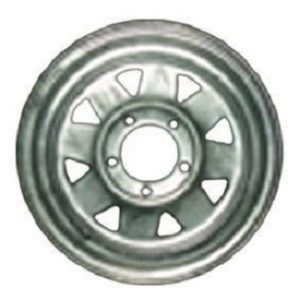 Manutec 14in Rim only – Chrome – to suit Ford Hub Trailer Caravan Spare Part