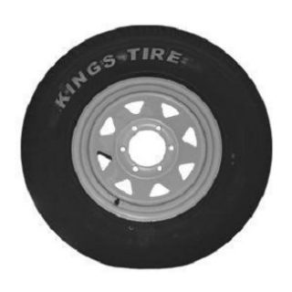 Wheel LT215R15 828 A/T Tyre fitted to 15X6 inch White Sunraysia LC Rim Trailer