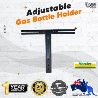 Manutec LARGE ADJUSTABLE GAS BOTTLE HOLDER IN-LINE KIT Trailer Caravan Part
