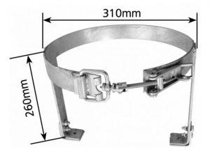 Manutec  Adjustable Gas Bottle Holder Trailer Caravan Spare Part