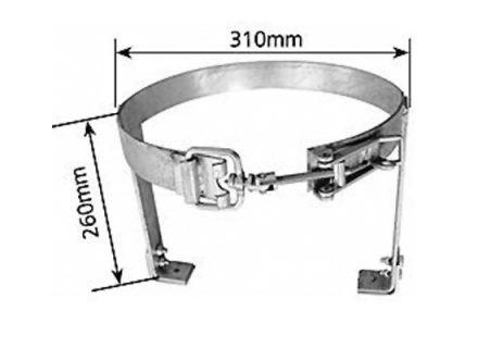 Adjustable Gas Bottle Holder – A Frame – Left