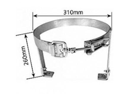 Adjustable Gas Bottle Holder – A Frame – Right