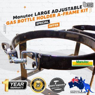 Manutec  LARGE ADJUSTABLE GAS BOTTLE HOLDER A-FRAME KIT Trailer Caravan Part