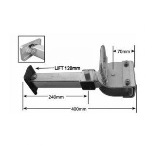 Quick Release Adjustable Leg with Large Plastic Coated Aluminium Foot Weld Caravan