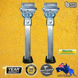 2x Popular Adjustable Leg Quick Release Medium 455mm Standard Foot Weld on Caravan