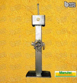 Manutec Side Wind Adjustable Stand, light, Mounting Tube Trailer Caravan Part