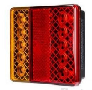 LED Rear Combination Lamp 10-30V Stop/Tail/Ind/Ref/Lic Surface Mount 100 x 100mm