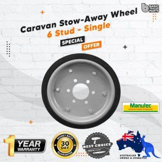 Single UHD Caravan Stow-Away Wheel 6 Stud Carastow Storage Wheel Trailer LandCruiser