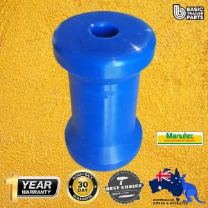 Hard Poly Boat Roller 4 1/2 inch Bow Roller, Blue, 17mm plain bore Trailer Part