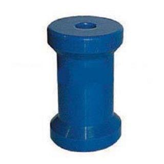 4 1/2 inch Bow Roller, Blue, 17mm plain bore