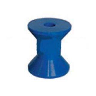 Hard Poly Boat Roller 3 inch Bow Roller, Blue, 17mm plain bore Trailer Caravan