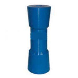Hard Poly Boat Roller 8 inch Sydney Type Roller, Blue, 17mm plain bore Trailer