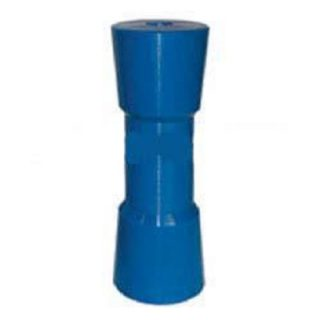 Hard Poly Boat Roller 8 inch Sydney Type Roller, Blue, 21mm plain bore Trailer