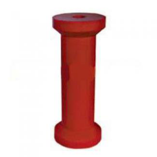 Soft Poly Boat Roller 8 inch Keel Roller, Red Poly, 21mm plain bore Trailer Part