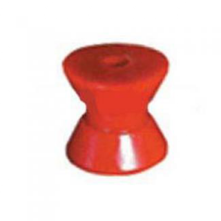Soft Poly Boat Roller 2 inch Bow Roller, Red Poly, 13mm plain bore Trailer Part