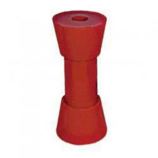Poly Boat Roller 6 inch Sydney Type Roller, Red Poly, 17mm plain bore Trailer