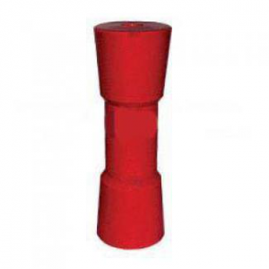 Poly Boat Roller 8 inch Sydney Type Roller, Red Poly, 17mm plain bore Trailer