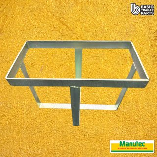 Manutec  Metal Strap Jerry Can Holder – Zinc Trailer Caravan Spare Part