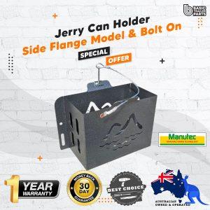 Jerry Can Holder – With Side Flange Model, Bolt On, Hammertone Trailer Caravan