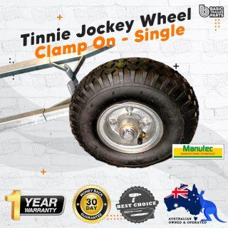 Manutec Tinnie Jockey Wheel Clamp on – Single Trailer Caravan Spare Part