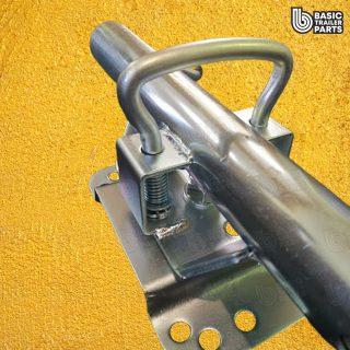 2021 Standard Jockey Wheel 10″ Solid R Pneu w/ Welded U-Bolt Swivel Brkt 850kg