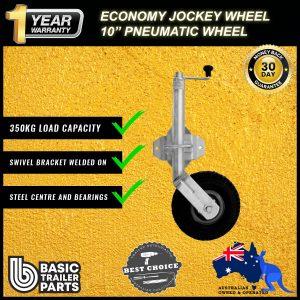 2021 Sturdy Economic Jockey Wheel 10″ inch Pneumatic Swivel Bracket 350kg Load