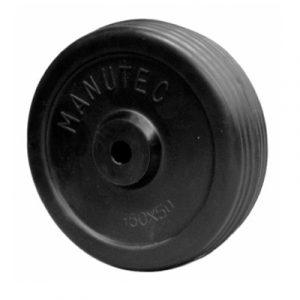 Manutec Jockey Wheel Solid Rubber Wheel 1505013 nylon web Trailer Caravan Part