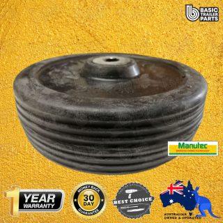 Manutec Jockey Wheel 6 inch (150mm) Solid Rubber Wheel Trailer Caravan Part